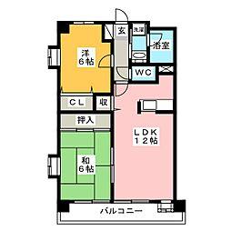 五郎山パークス[1階]の間取り