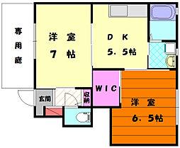 メイゾンハイツ12[1階]の間取り