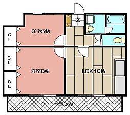 パラシオ二島[502号室]の間取り