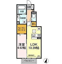 (仮称) D-room高岡[1階]の間取り