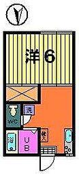 カトレアハイツ[1階]の間取り