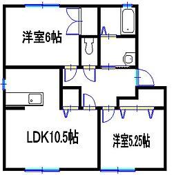 兵庫県たつの市神岡町大住寺の賃貸アパートの間取り
