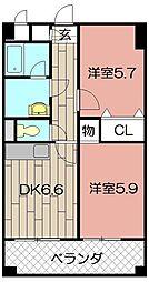 ニューシティアパートメンツ南小倉II[813号室]の間取り