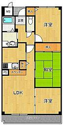 アンジュ東甲子園[605号室]の間取り