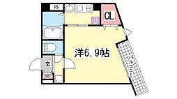 アネスト神戸西元町[401号室]の間取り