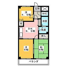 レジアスハイム遼仙II[2階]の間取り
