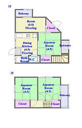[一戸建] 兵庫県神戸市垂水区東垂水町 の賃貸【兵庫県 / 神戸市垂水区】の間取り