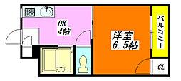 プレアール・小阪II 405号室[4階]の間取り