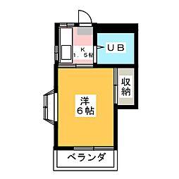 プリティハイツ[2階]の間取り