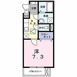 メゾン・ド・コトン[1階]の間取り