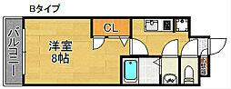 AXIS天神ノ森[2階]の間取り