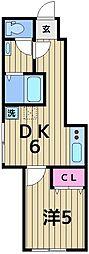 (仮称)中川4丁目アパート 1階1DKの間取り