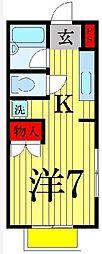 東京都足立区大谷田5丁目の賃貸アパートの間取り
