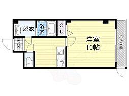 JR大阪環状線 京橋駅 徒歩5分の賃貸マンション 3階1SKの間取り