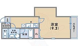JR東海道・山陽本線 甲子園口駅 徒歩8分の賃貸マンション 1階1Kの間取り