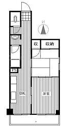 東京都板橋区前野町3の賃貸マンションの間取り
