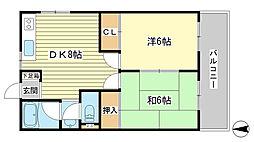 兵庫県姫路市広峰2丁目の賃貸マンションの間取り