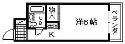 大阪府岸和田市春木若松町の賃貸マンションの間取り