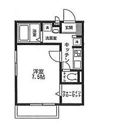 神奈川県横浜市金沢区富岡東5の賃貸アパートの間取り