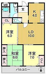 種村マンション5番館[2O7号室号室]の間取り