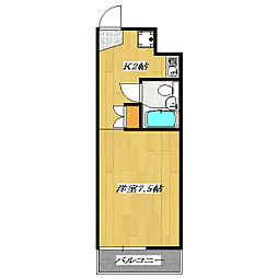 ルミエ−ル東葛西Ⅱ[3階]の間取り
