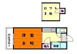 シャトレ21香住ヶ丘[2階]の間取り