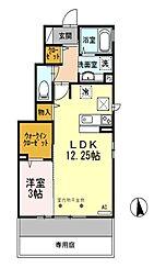 東京都西東京市新町5丁目の賃貸アパートの間取り