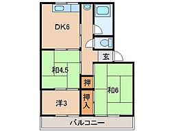 小堀マンション[3階]の間取り