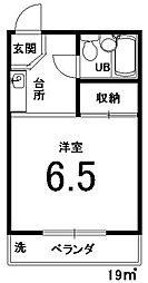 シャトレ壬生[202号室]の間取り