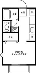 東京都足立区伊興2丁目の賃貸アパートの間取り