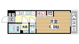 JR東海道・山陽本線 摩耶駅 徒歩5分の賃貸マンション 3階1Kの間取り