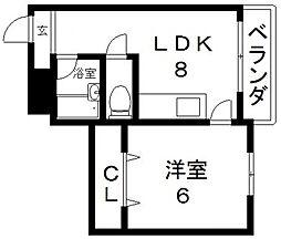 アシタカマンション[301号室号室]の間取り