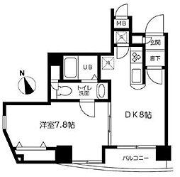 デュオ・スカーラ虎ノ門[1201号室]の間取り