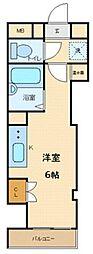 昇龍ビル 3階ワンルームの間取り