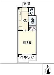 ラ・ウォーム[4階]の間取り