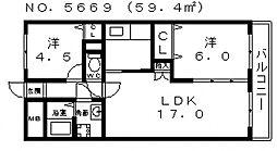 ファミリーコーポ阿倍野[2階]の間取り
