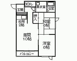 アーサー21[2階]の間取り