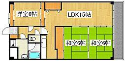 トーカンマンション国分[12階]の間取り