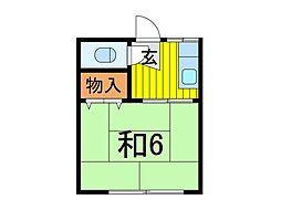 本田マンション1号棟[310号室]の間取り