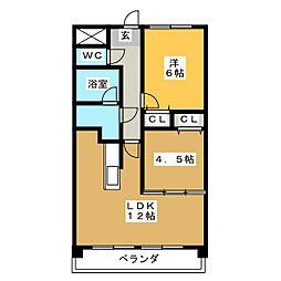 フォ・セート[3階]の間取り