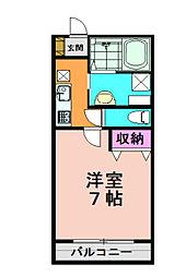 兵庫県神戸市北区藤原台北町7丁目の賃貸マンションの間取り