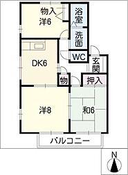 サニーパークスA棟[1階]の間取り