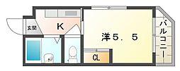 パンションイワイマチ[3階]の間取り