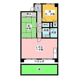 メゾンローゼ[1階]の間取り