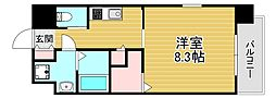 Forest Grace 高井田I 8階1Kの間取り