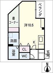 愛知県名古屋市中川区篠原橋通2丁目の賃貸マンションの間取り