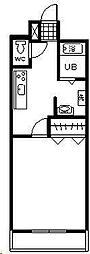 フローラ神宮[105号室]の間取り