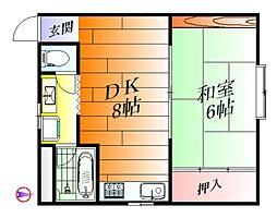 ユース香露園[2階]の間取り