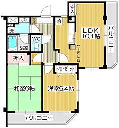ルースコート戸田[3階]の間取り