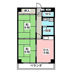 Dio‐Hori I号棟[4階]の間取り